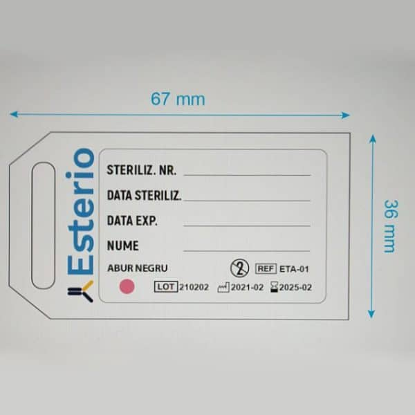 etichete cu indicator pentru containere medicale
